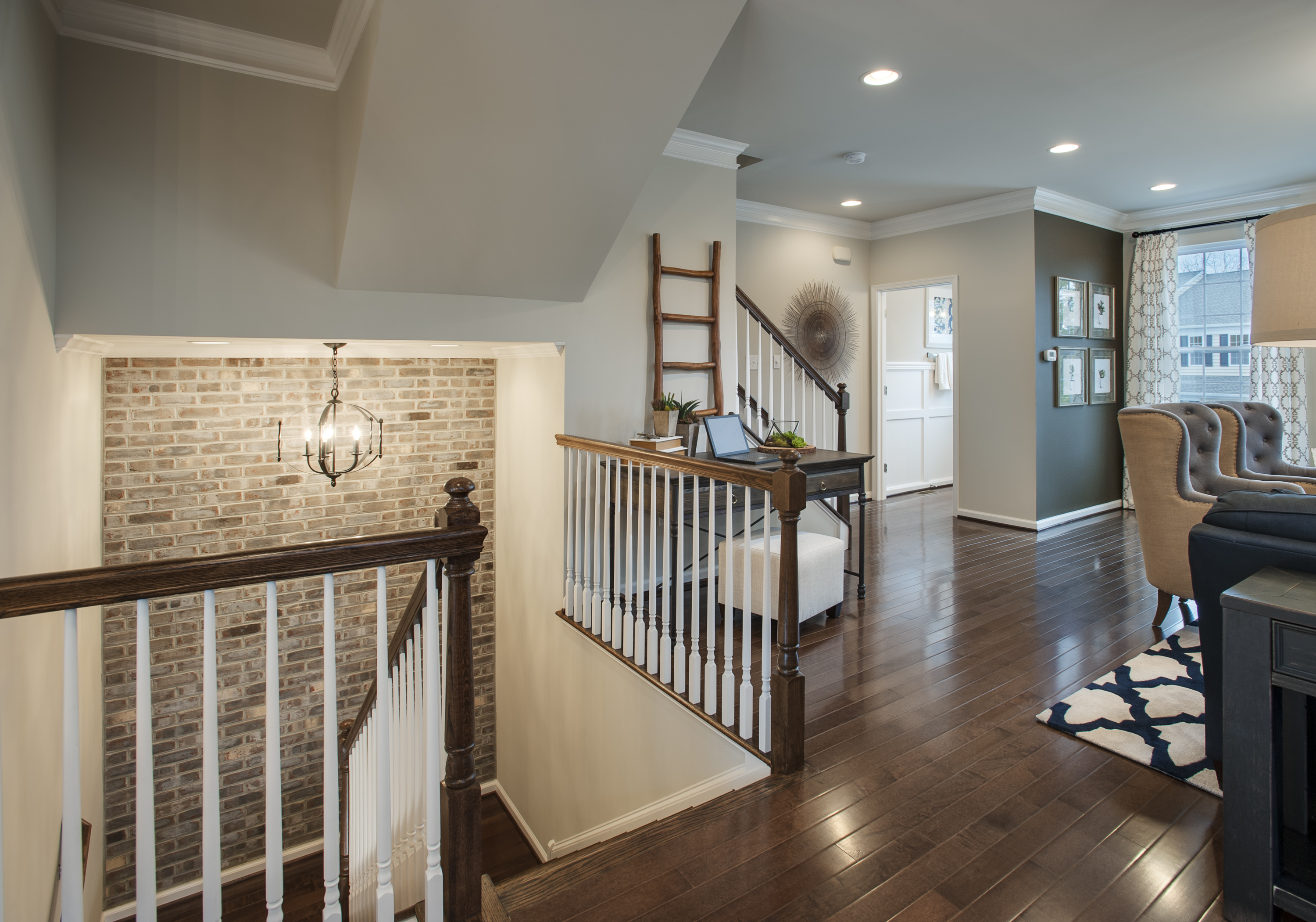 BUCKS COUNTY PA - TOWNHOME GREAT ROOM & STAIRWELL