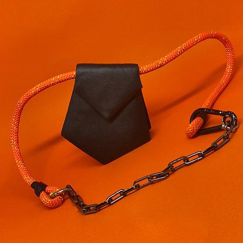 Mini bolsa corda laranja