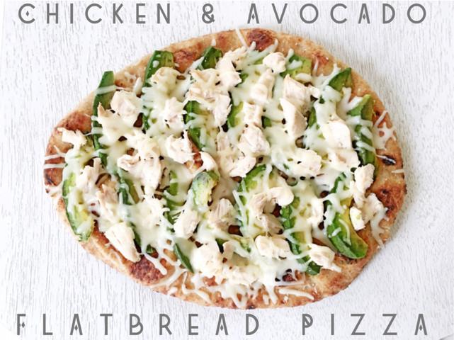 Chicken and Avocado Flatbread Pizza