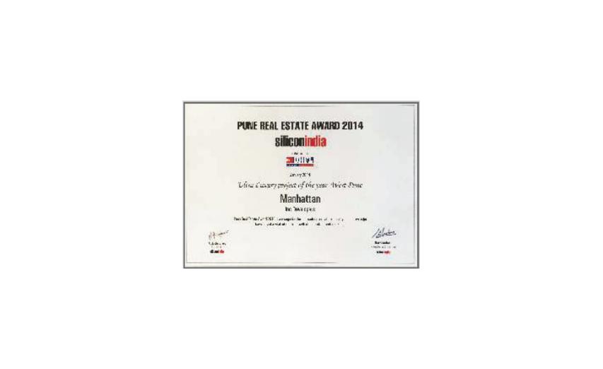 Pune Real Estate Award - 2014