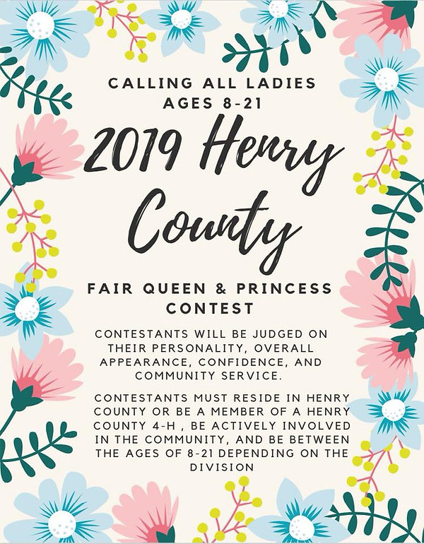 Queen Contest | henry-county-fair