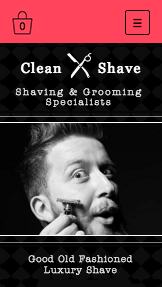 Health & Beauty website templates –  Shave Shop