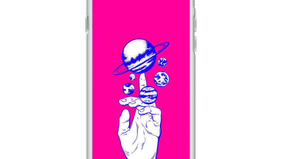 middle finger space iPhone case