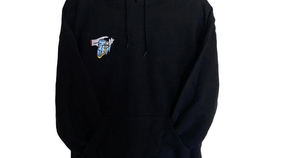 black embroidered hoodie (PRE-ORDER)