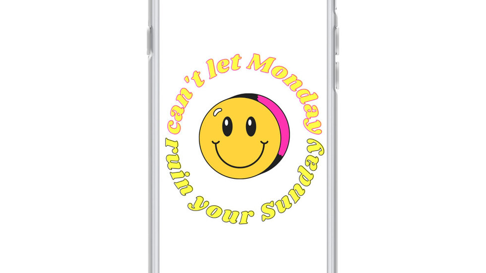 """""""can't let Monday ruin your Sunday"""" iphone case"""