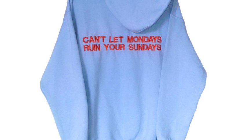 light blue embroidered hoodie [PRE-ORDER]
