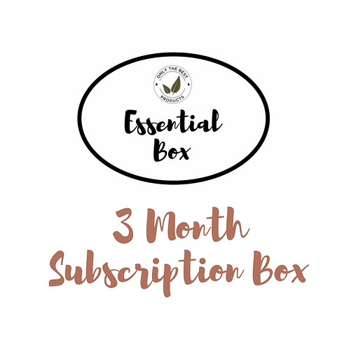 3 Month Essential Box Subscription