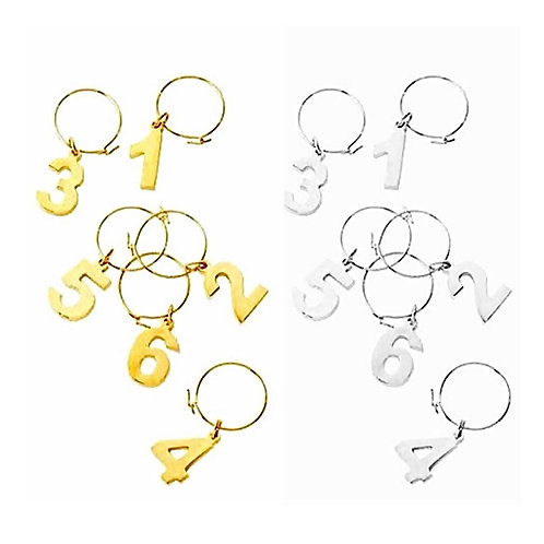 Got your Number Wine Charms