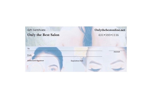 Only the Best Gift Certificates
