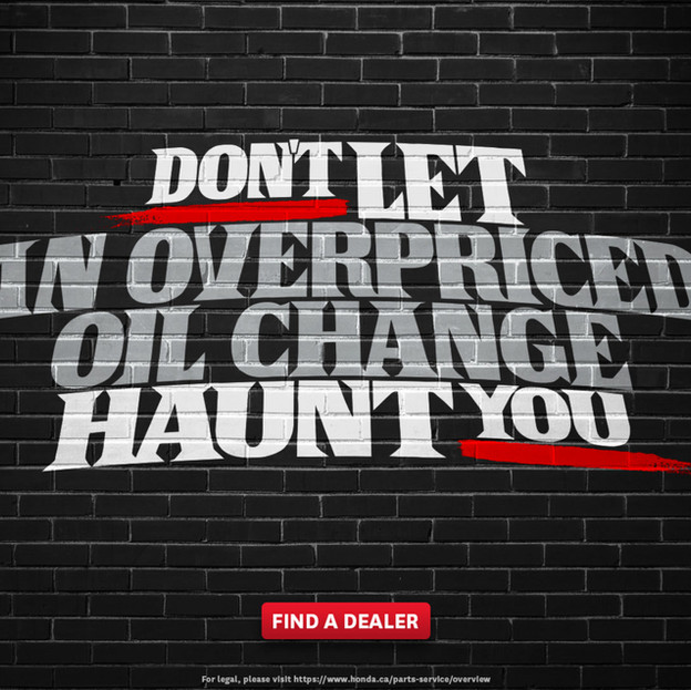 Honda Horrors Campaign