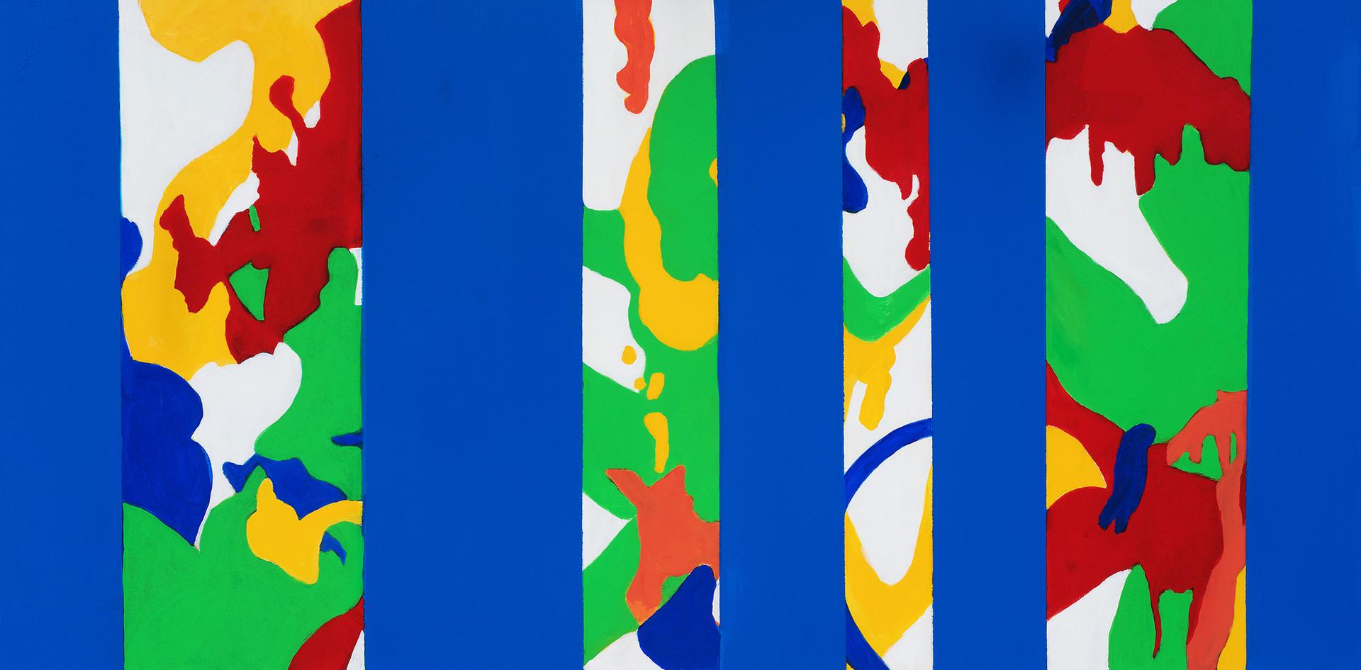 "Blue9, acrylic, 24""x48"", 2019"