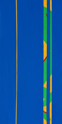 "Blue5, acrylic, 48""x24"", 2018"
