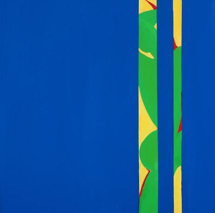 "Blue4, acrylic, 36""x36"", 2018"