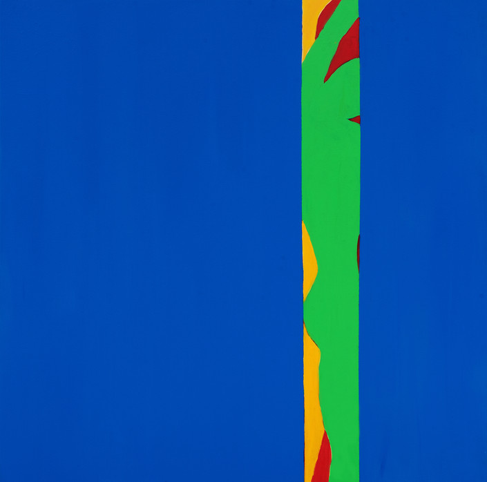 "Blue1, acrylic, 36""x36"", 2018"