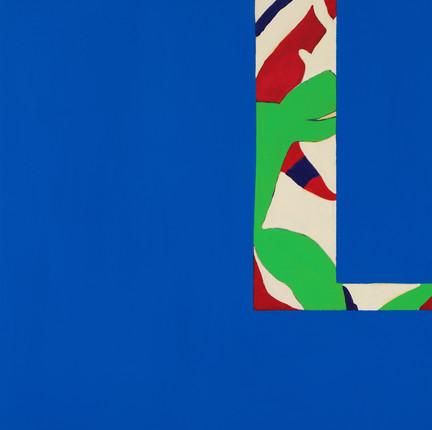 "Blue2, acrylic, 36""x36"", 2018"