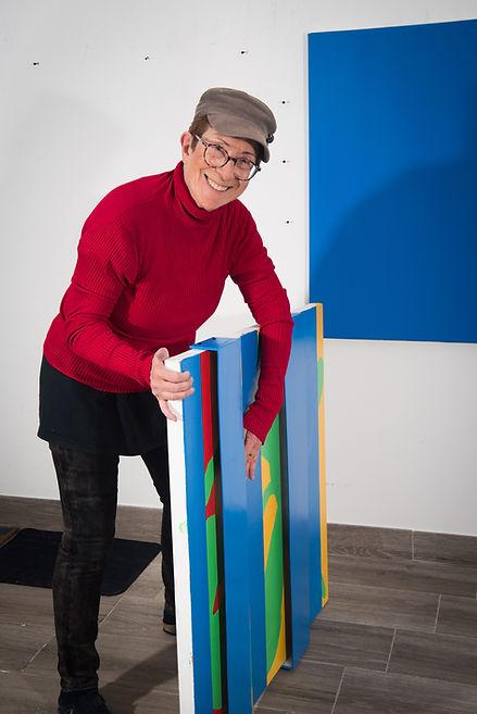 Helene Mukhtar in her studio
