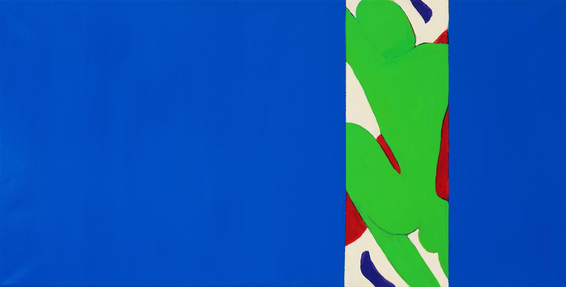 "Blue3, acrylic, 24""x48"", 2018"