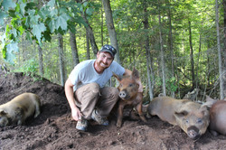 Ron with pig