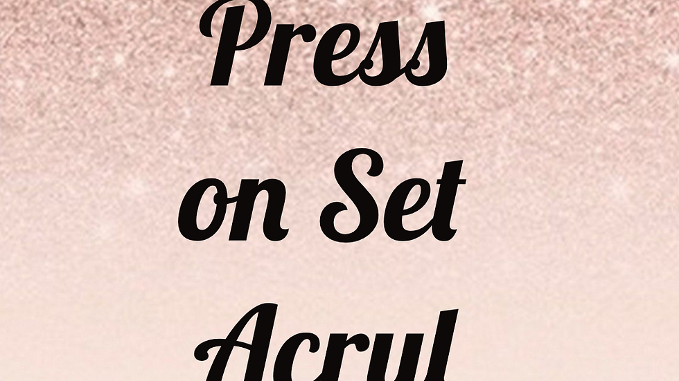 Acrylic Presson Set