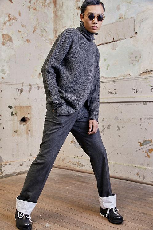Turtle neck wool blend jumper