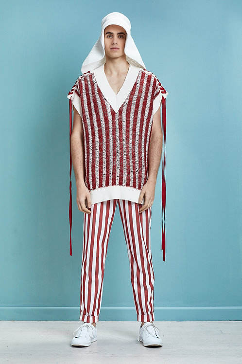 Oversized Stripes Vest