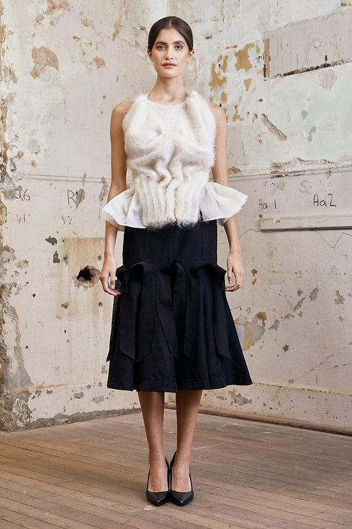 Wool blend light weight skirt