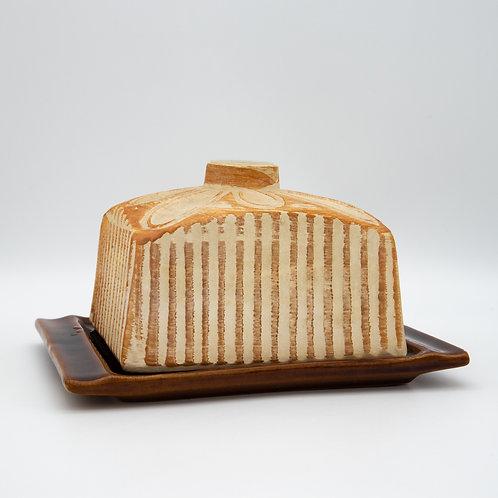 Alfred Klein Butterdose aus Keramik, leicht schräg