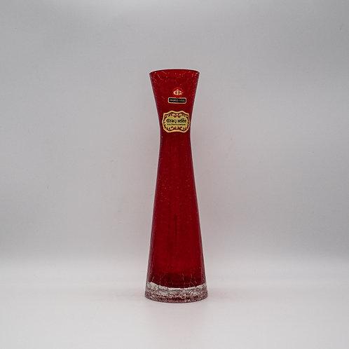 Cracquelee Vase rot, Vorderansicht