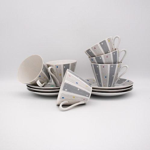 Winterling Kaffeetassenset, arrangiertes Foto mit einer liegenden Tasse