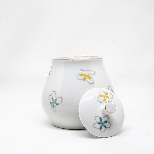 Kahla Zuckerdose aus Porzellan mit abgenommenen Deckel