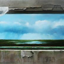 Oil on canvas 70x175cm.