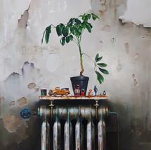 Oil on canvas 95x90 cm.