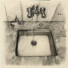 Pencil and charcoal on paper 100x100cm.