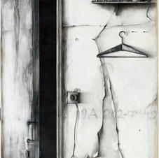 Pencil and charcoal on paper 170x130cm.