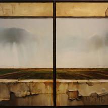 Diptych, oil on canvas 60x120 cm.