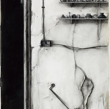 Pencil and charcoal on paper 175x130cm.