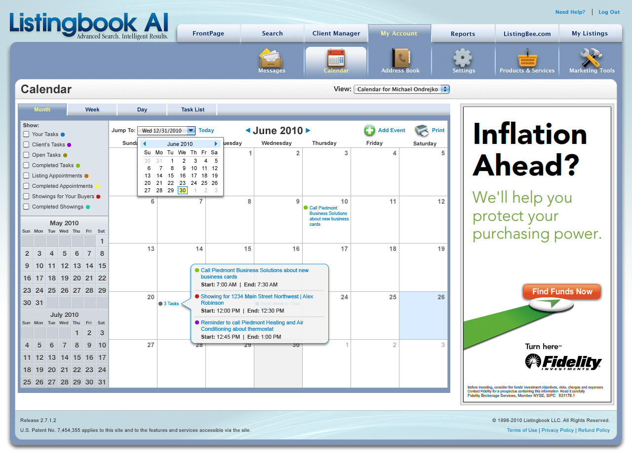 Listingbook Calendar System