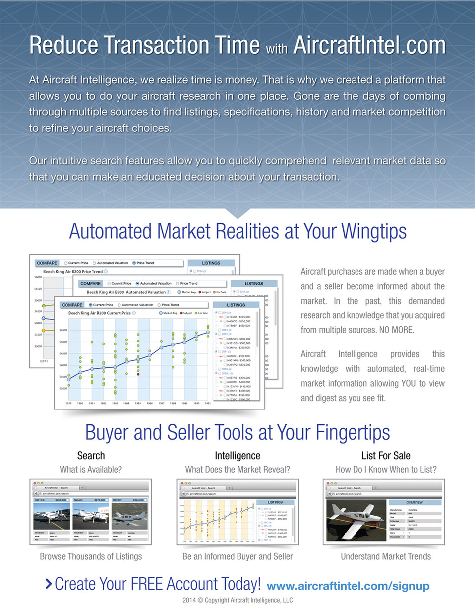 Aircraft Intelligence Trade Show One-Sheet