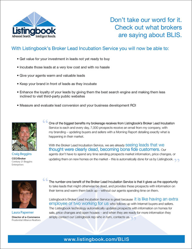 Listingbookk BLIS Product Sheet