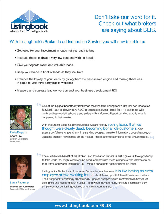 Listingbookk BLIS Product Sheet