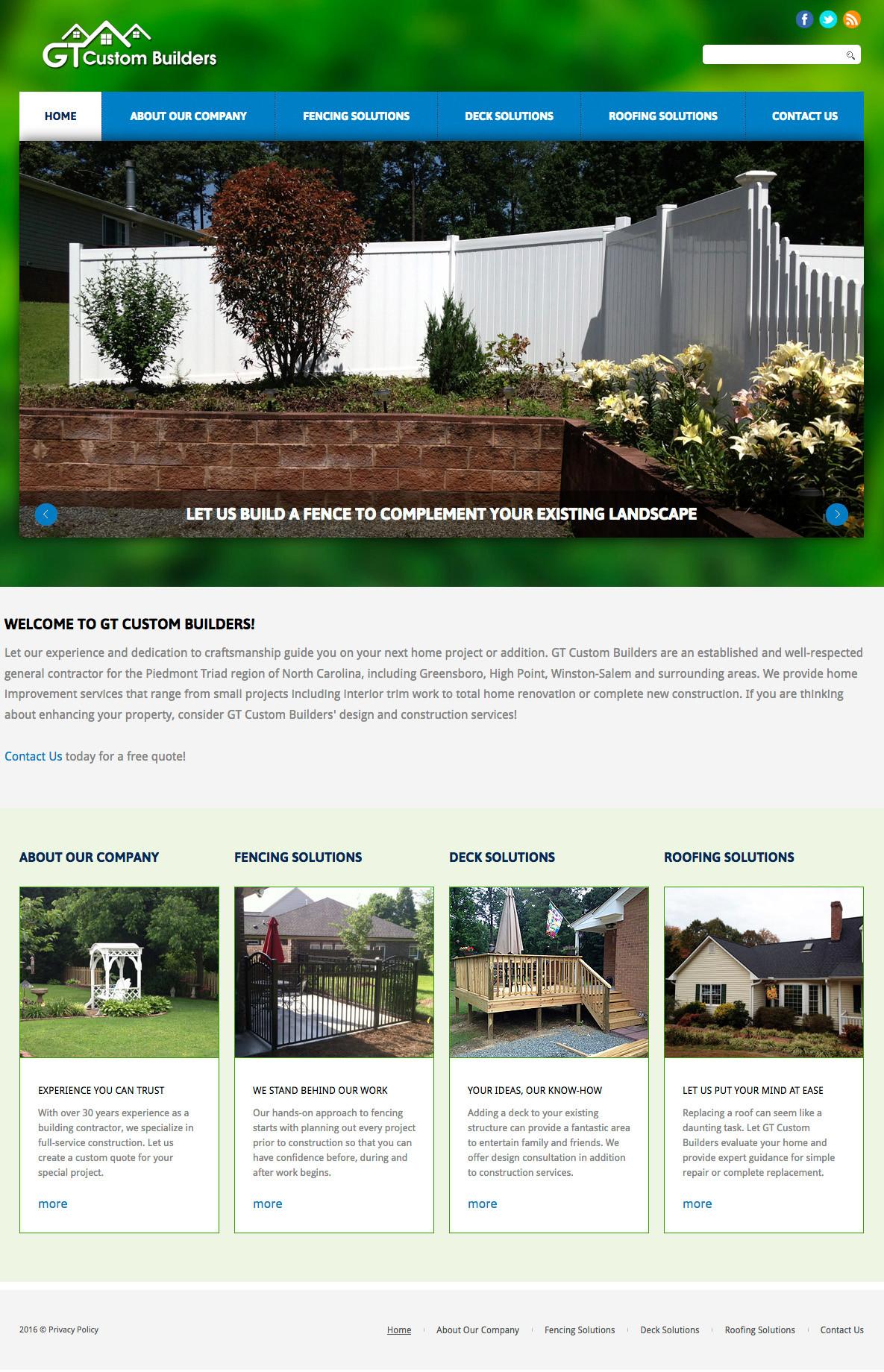 GT Custom Builders Homepage