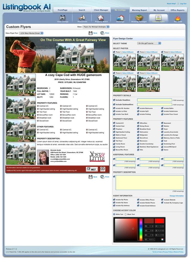 Listingbook Custom Flyer Tool