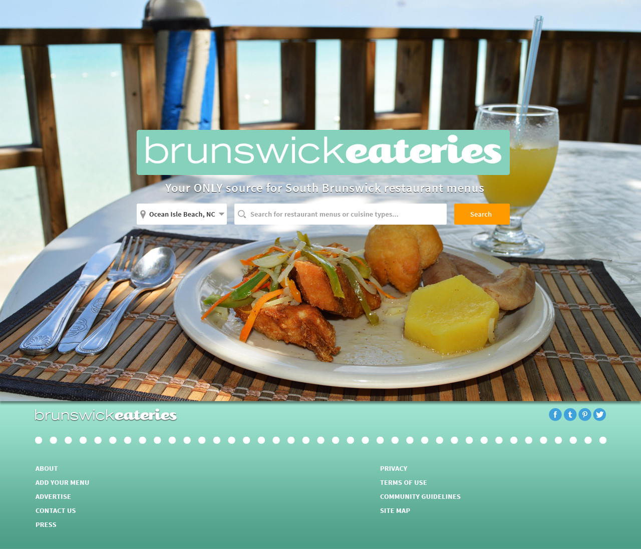BrunswickEateries.com Homepage