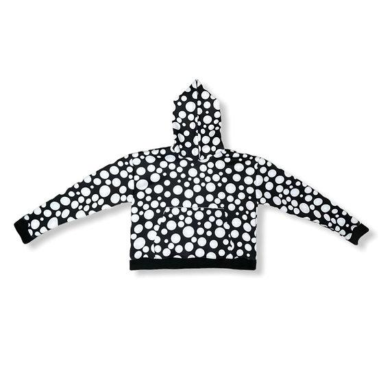 Polka Dot Cropped Hoodie