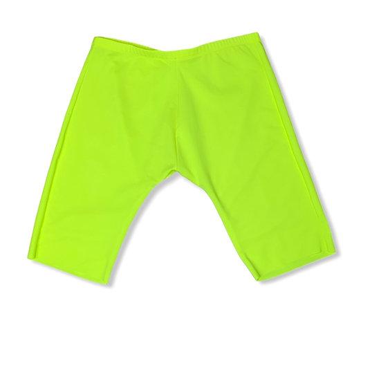 Neon Yellow Biker Short