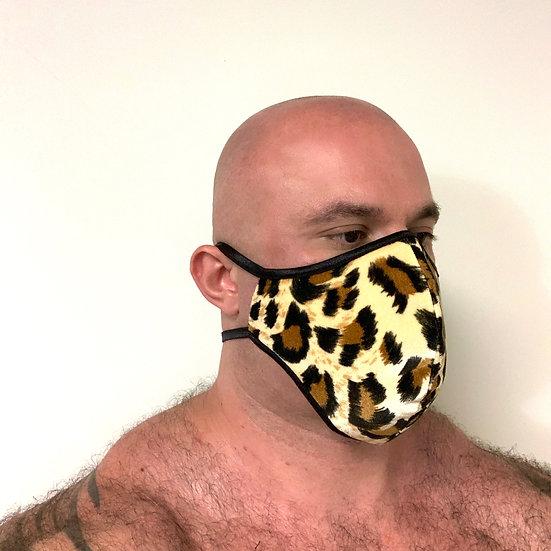 Leopard Velvet Mask w/ Filter Lining
