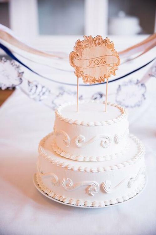 Wood Cake Topper