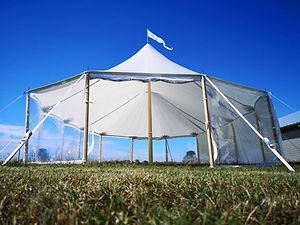 Stretch tent star-tent