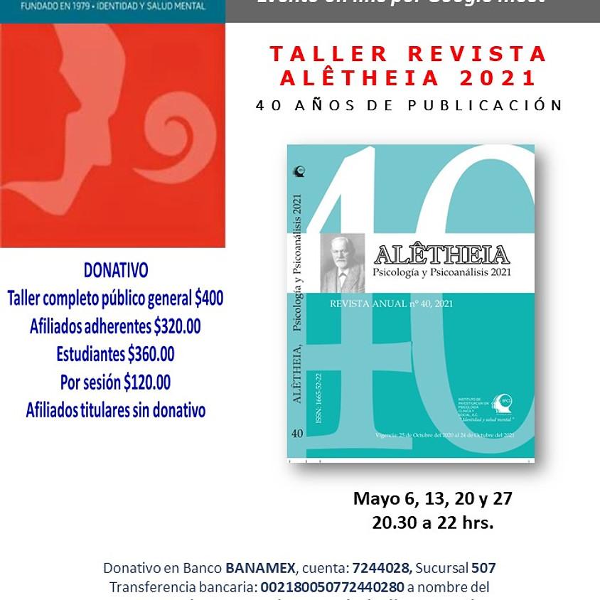 Taller de la Revista Alêtheia No. 40 segunda sesión