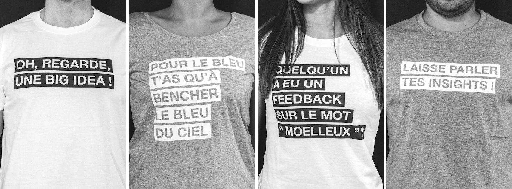 T-shirts créés par agence Extreme.